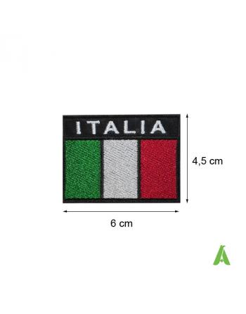 Bandera Italiana coser y termoadhesivos, para ropa y gorras, Art. FLAG205, cm 6x4.5