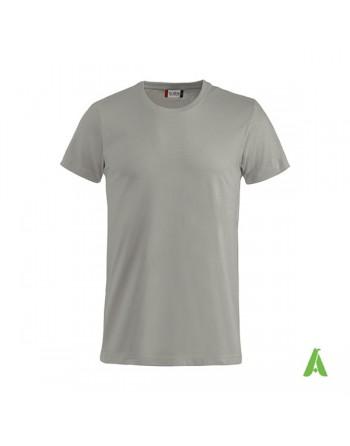 Camiseta color gris 94, manga corta, 100% algodón peinado, personalizado con bordados para eventos, deportes y empresas.