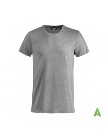 T-shirt unisexe couleur grise 95, manches courtes, 100% coton, personnalisé avec broderie pour événements, sports, entreprises.
