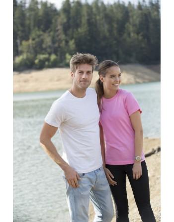 T-shirt unisexe manches courtes, 100% coton, personnalisé avec broderie pour événements, sports, entreprises, associations.