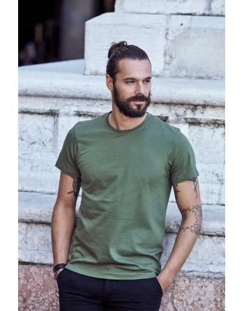 T-Shirt kurze Ärmel, 100% gekämmte Ringspun-Baumwolle, personalisiert mit Stickereien  für Promotions, Sport und events.