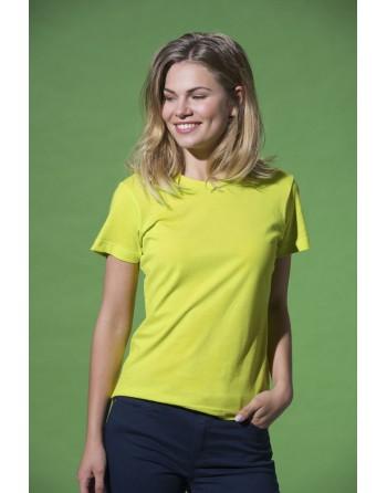 T-shirt femme à manches courtes, en jersey ring spung 100% coton pour promotionnel, entreprises, sport.