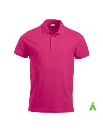 Fuchsia Piqué-Polo Farbe 300, für Damen, kurze Ärmel, mit Stickerei für Firmen und Freizeit personalisiert.