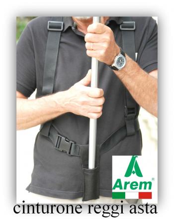 Schwarzer Gürtel für Stangen und Banner
