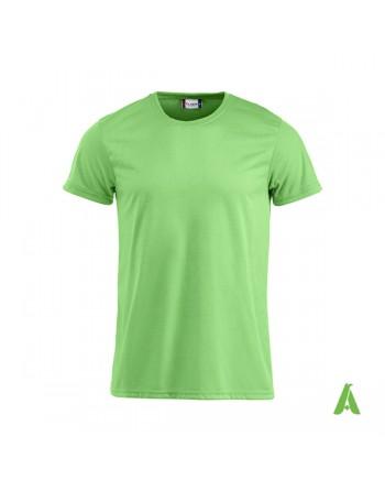 T-shirt unisex colore verde neon 611, cotton-feeling, tessuto mordibissimo ideale per stampa sublimatica e ricamo.