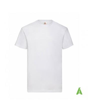 Camiseta de color blanco N.30, personalizada con estampado serigrafia, logo para empresas, promocionales y deportivas.