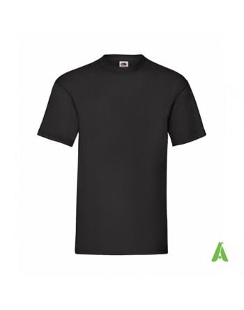 Camiseta de color negro N.36, personalizada con estampado serigrafia y logo para empresas, promocionales y deportivas.