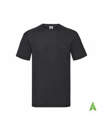 anthrazitgraue Farbe HD, T-Shirt, personalisiert mit Print Siebdruck und Logo für Unternehmen, Promotion und Sport.