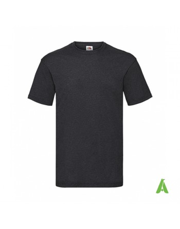 Light graphite color HD, bespoke  T-shirt personalized with printed logo for promotional, events , sport.