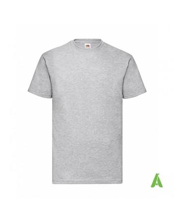 Camiseta de color melange gray 94, personalizada con estampado, serigrafia para empresas, promocionales y deportivas.