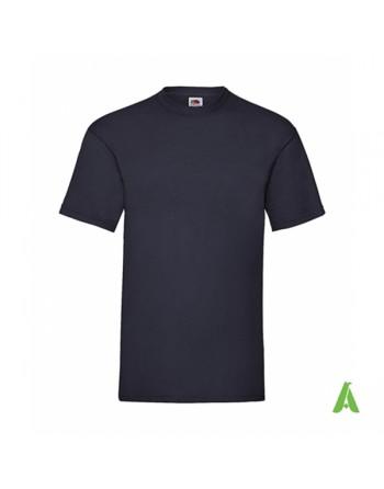 Camiseta de color azul marino 32, personalizada con estampado serigrafia y logo para empresas, promocionales y deportivas.