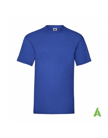 Royal blue color N. 51, bespoke  T-shirt personalized with printed logo for promotional, events , sport.