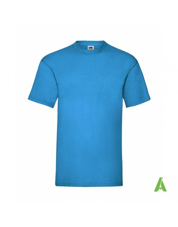 Light blu royal color ZU, bespoke  T-shirt personalized with printed logo for promotional, events , sport.