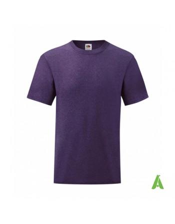 T-shirt de couleur pourpre HP , personnalisé avec impression du logo pour les entreprises, la promotion et le sport.