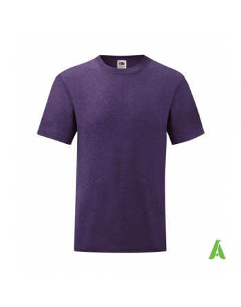 Purple color HP, bespoke  T-shirt personalized with printed logo for promotional, events , sport.