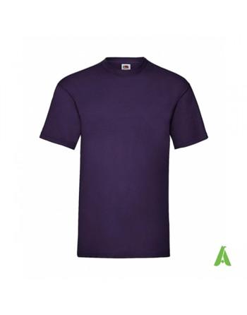dunkelviolette Farbe PE, T-Shirt, personalisiert mit Print, Siebdruck und Logo für Unternehmen, Promotion und Sport.
