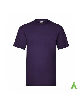 Dark purple color PE, bespoke  T-shirt personalized with printed logo for promotional, events , sport.