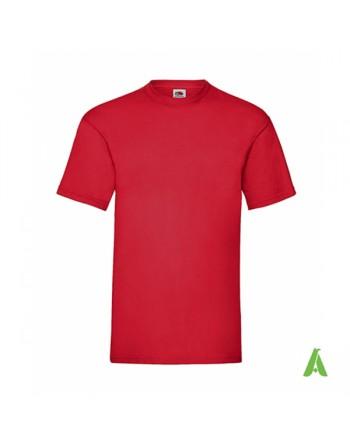 Camiseta de color rojo N.40, personalizada con estampado serigrafia y logo para empresas, promocionales y deportivas.