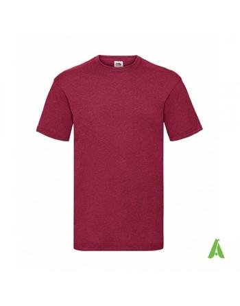 Camiseta de color rojo ladrillo BX, personalizada con estampado y logo para empresas, promocionales y deportivas.