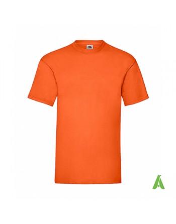 T-shirt de couleur orange N.44, personnalisé avec impression de logo pour les entreprises, la promotion et le sport.