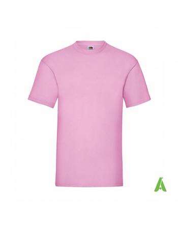 T-shirt de couleur rose N.52, personnalisé avec impression de logo pour les entreprises, la promotion et le sport.