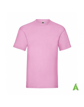 Pink color N. 52, bespoke  T-shirt personalized with printed logo for promotional, events , sport.