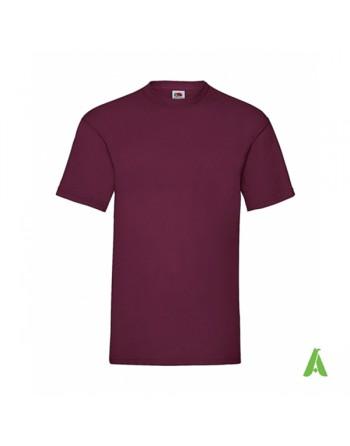 T-shirt de couleur bordeaux N.41, personnalisé avec impression de logo pour les entreprises, la promotion et le sport.