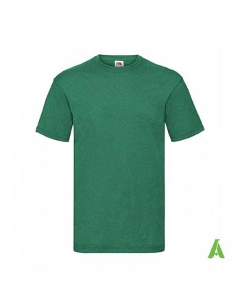 T-shirt de couleur vert bouteille N.38, personnalisé avec impression du logo pour les entreprises, la promotion et le sport.