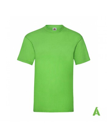 T-shirt de couleur vert lime LM, personnalisé avec impression du logo pour les entreprises, la promotion et le sport.