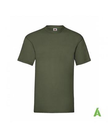 T-shirt de couleur vert militaire N.59, personnalisé avec impression du logo pour les entreprises, la promotion et le sport.
