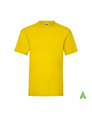 Yellow color K2 , bespoke  T-shirt personalized with printed logo for promotional, events , sport.
