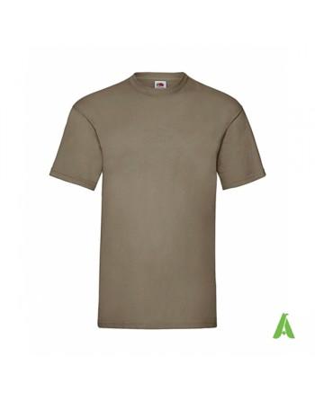 T-shirt de couleur beige 3M , personnalisé avec impression sérigraphie de logo pour les entreprises, la promotion et le sport.