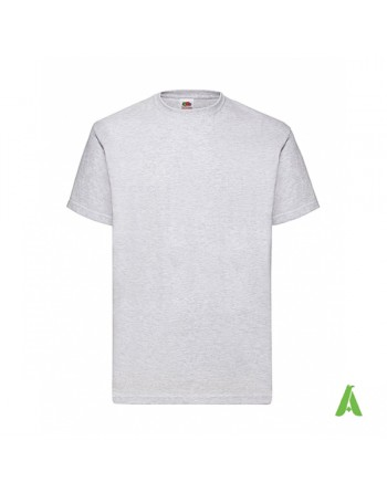 Light grey color N. 93, bespoke  T-shirt personalized with printed  logo for promotional, events , sport.