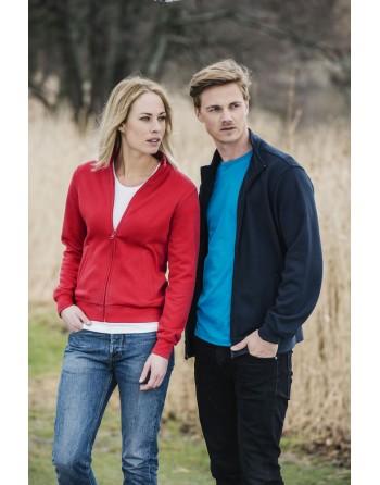 Strickjacke Sweatshirt-Cardigan, mit individueller Bestickung für Unternehmen, Promotion und Sport.