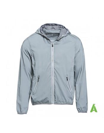 Reflektierende Jacke mit hoher Sichtbarkeit und Stickerei für Unternehmen, Arbeit und Sport