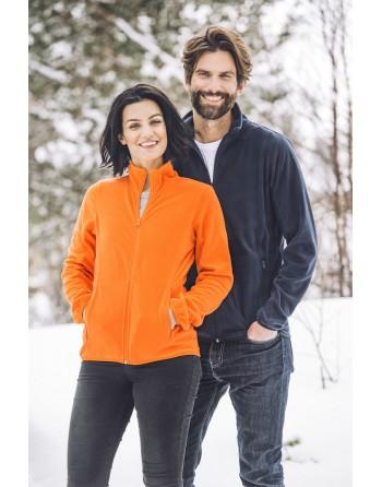 Unisex Micropile-Jacke mit individueller Stickerei für Unternehmen, Promotion und Sport.