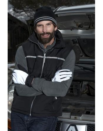 Chaleco reflectante acolchado con bordado personalizado para empresas, promocional y deporte.