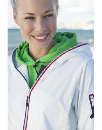 Damen Jacke im nautischen Stil, wind- und wasserabweisend mit individueller Stickerei, für Meer, Unternehmen, Sport.