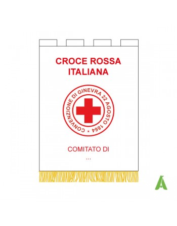 Gonfalon/banner Internation Red Cross for event and charity associations.