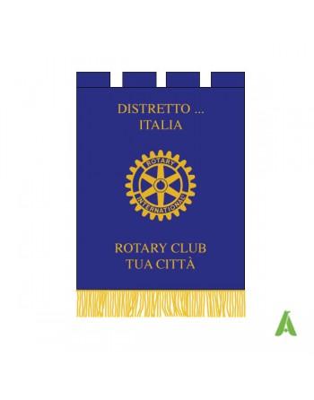 Labaro Rotary ricamato e stampato  su raso foderato con scritta del distretto personalizzata.