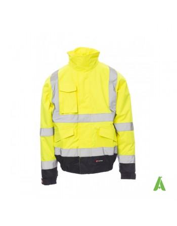 Giubbotto da lavoro alta visibilità colore giallo per volontari,lavori stradali , aziende.