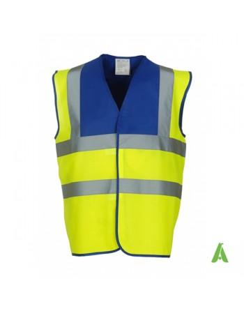 Gilet da lavoro alta visibilità giallo fluo - royal personalizzato con ricami per aziende