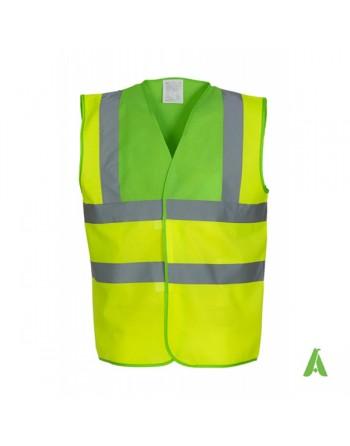 Gilet da lavoro alta visibilità giallo fluo - verde fluo personalizzato con ricami per aziende
