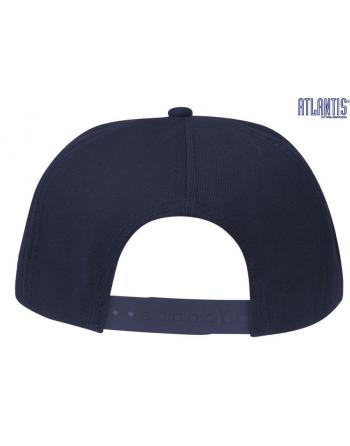 Cappello Snap colore blu navy con chiusura retro in plastica PVC regolabile. d61afddce98d
