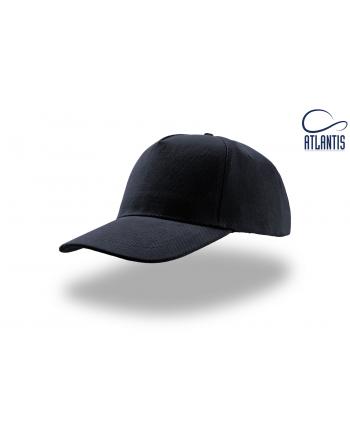 Casquette unisexe navy blue avec visière, personnalisée avec broderie pour événements, entreprises et publicité.