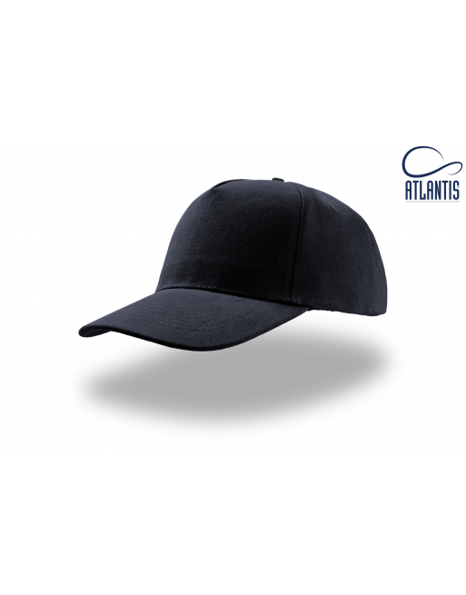 Navy blue unisex custom hat with 3D embossed embroidered logo for promotions, advertising and companies.