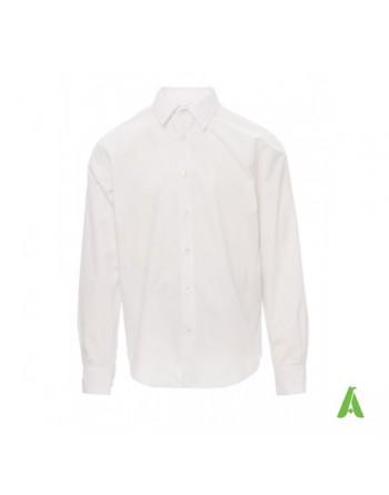 Camicia  bianca per fiere, ufficio e aziende, acquistabile neutra o con ricamo personalizzato.