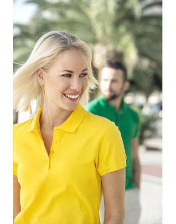 Kurzarm-Damen-Poloshirt...
