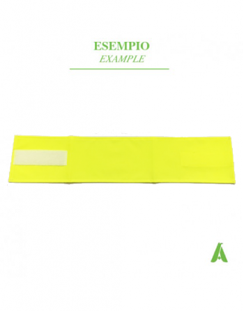 Yellow high visibility armband,  fluorescent  colour, with adjustable velcro closure, for emergency and safety.