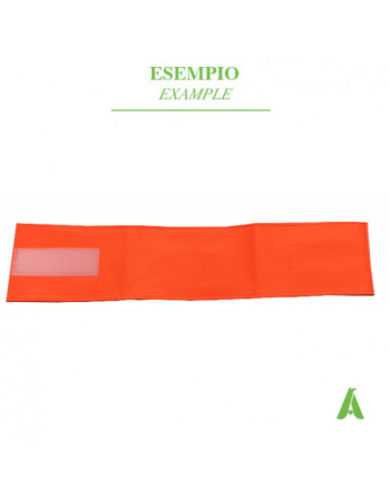 Fluorescent orange armband with adjustable velcro closure